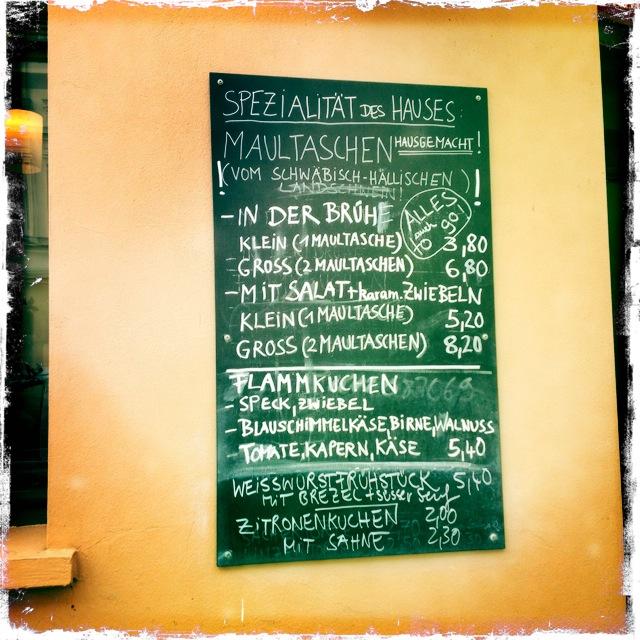 Ribo Cafe - die Speisekarte