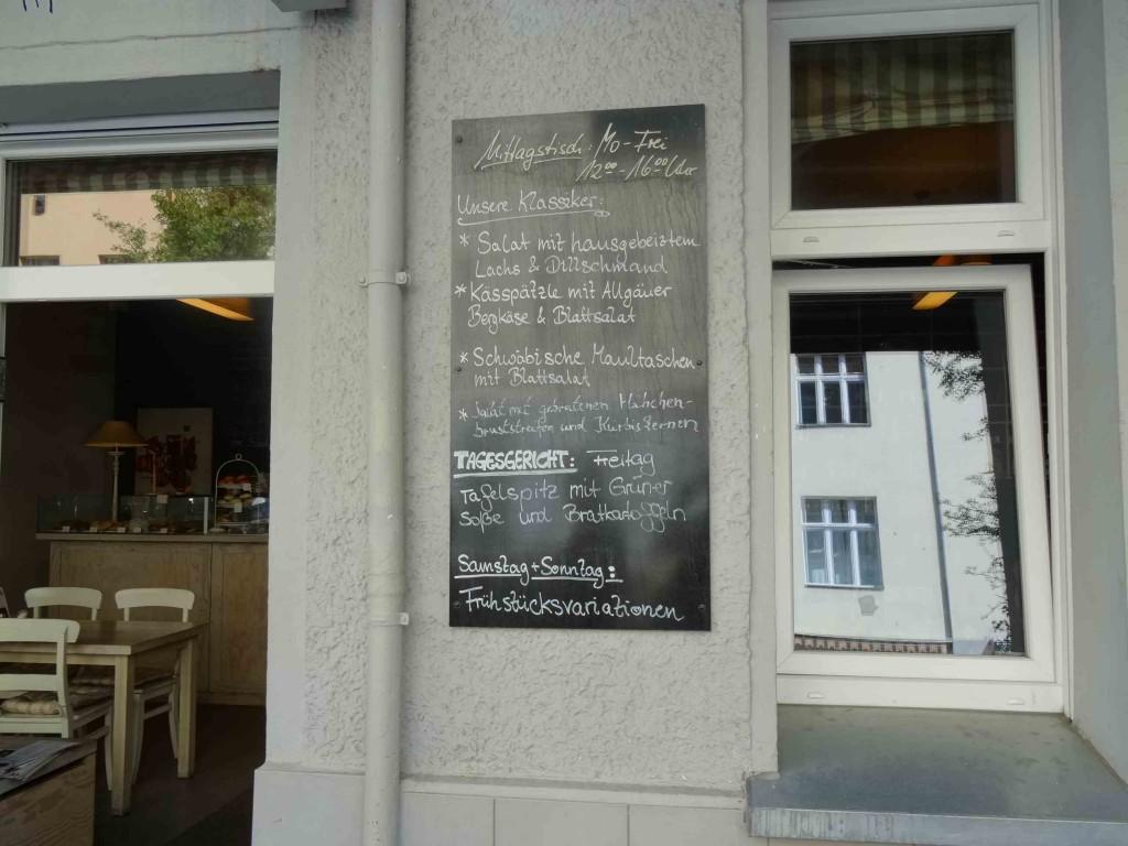 Alpenstueck Baeckerei - der Mittagstisch