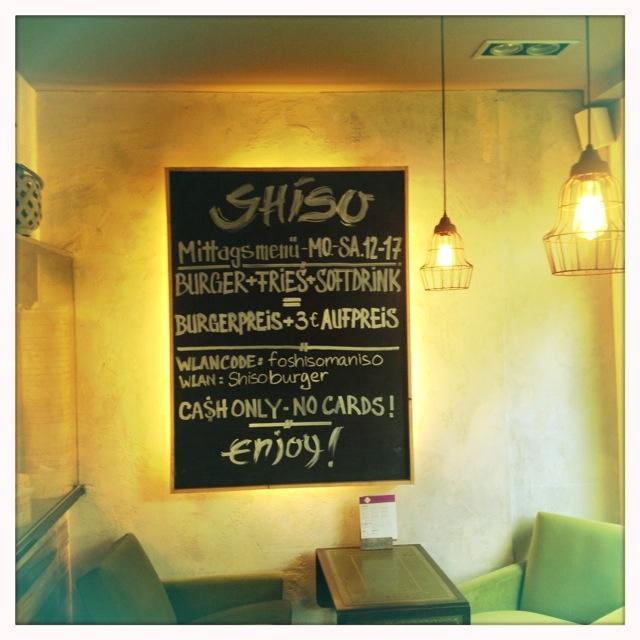 Shiso Burger - die Einrichtung