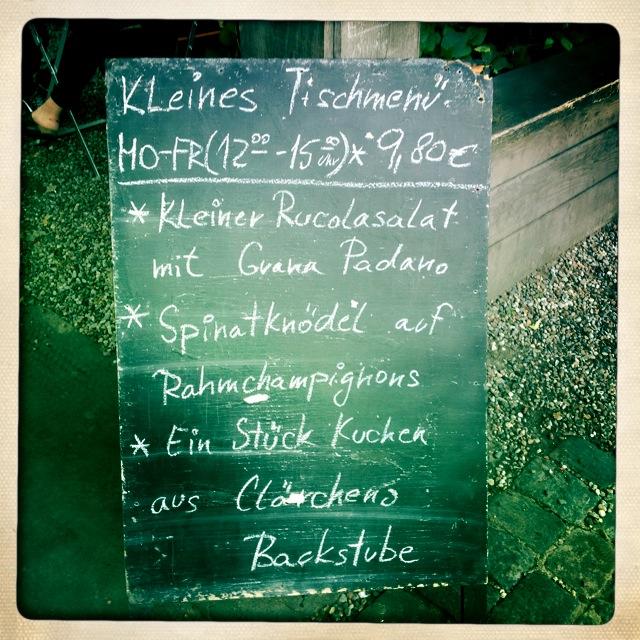 Claerchens Ballhaus - das Mittagsmenu